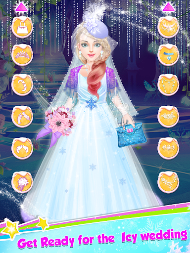 Ice Princess Wedding Dress Up Stylist screenshot 1