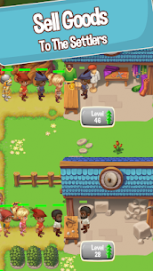 Idle Settlers MOD APK 1.8.9 [Unlimited Money] Medieval Trading 2