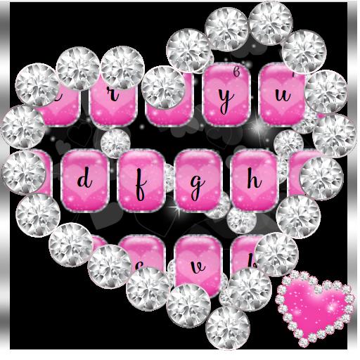 Love Pink Hearts Diamonds Keyboard (app)