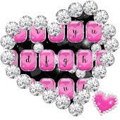 Love Pink Hearts Diamonds Keyboard