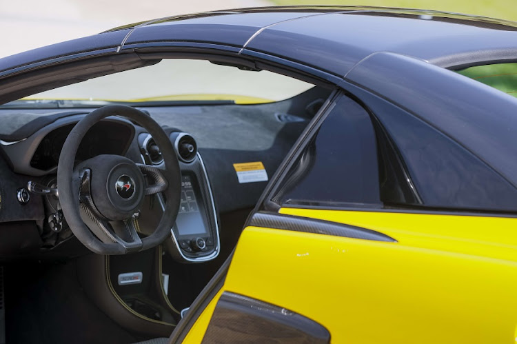 It offers superb topless motoring but things get loud in the cabin at speed. Picture: MCLAREN AUTOMOTIVE