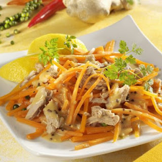 Shredded Carrot Salad with Tuna