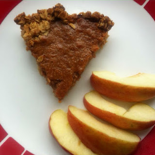 Apple Butter Pie with Oatmeal Pecan Crust