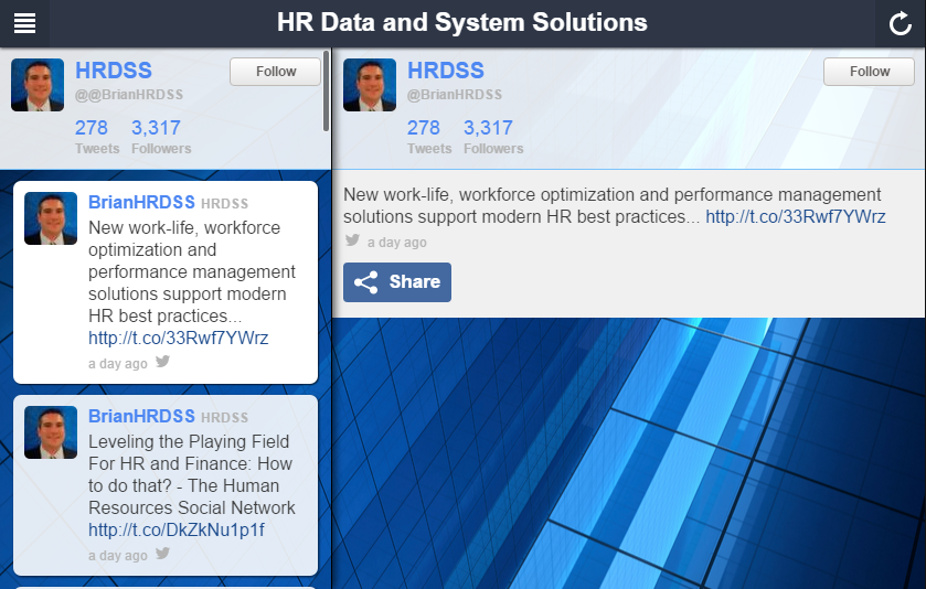 HR Data and System Solutions- screenshot