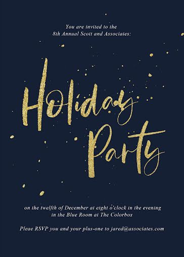 8th Annual Holiday Party - Christmas Card Template