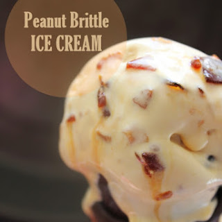Peanut Brittle Ice Cream|No churn method