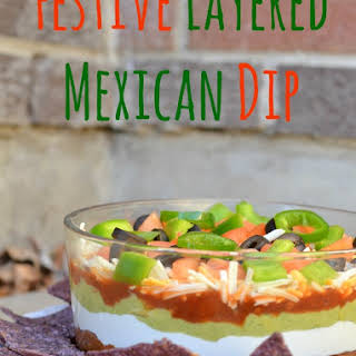 Festive Layered Mexican Dip.