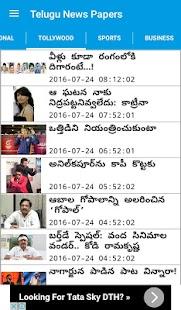 Telugu News Papers - náhled