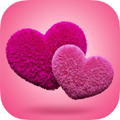 Fluffy Hearts Live Wallpaper