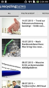 Recyclingnews – Miniaturansicht des Screenshots