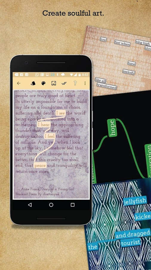 The Blackout Bard: Create Blackout Poetry!- screenshot