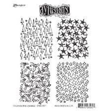 Dylusions Cling Stamps 8.5X7 - Christmas Background