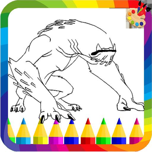Ben  ultimate alien Coloring ten Game