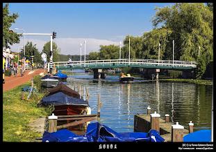 Photo: Canales de la entrada a Gouda.