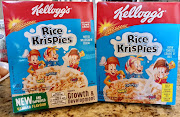 "Spot the difference: Many Rice Krispies consumers unwittingly bought the ""new and improved"" version, and only realised it was a totally different product when they tasted it. The new packaging is on the left, and the old on the right."