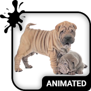 Cute Puppies Animated Keyboard + Live Wallpaper