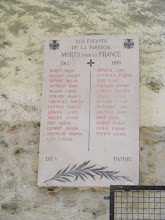 Photo: And, of course, the ever present war memorial, commemorating parish members fallen in WW I.