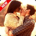 Cute Couple Kiss Wallpaper icon