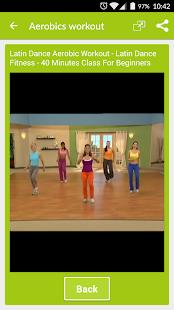 Aerobics workout screenshot