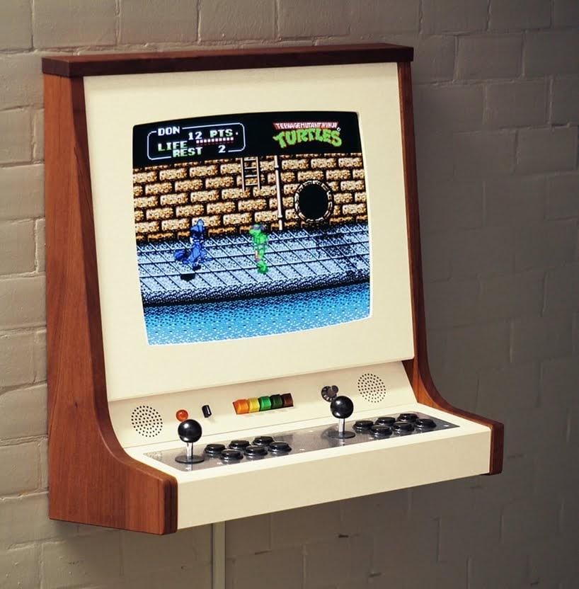 OriginX es un hermoso gabinete de arcade, un homenaje a Pong