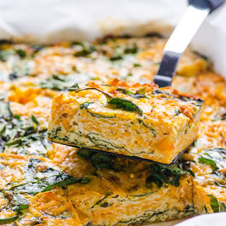 Taco Sweet Potato and Spinach Egg Bake.