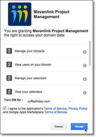 Shows deploying an app from G Suite Marketplace