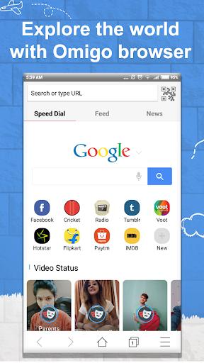 Omigo - Latest Video Status & News, Indian Browser 1.7.3 screenshots 1