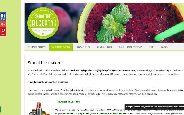 Smoothie maker - recenze a hodnocení mixérů