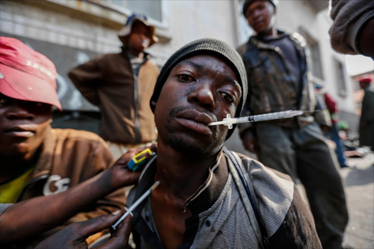 A man gets injected with whoonga in Johannesburg. File photo.