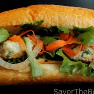 Chicken Banh Mi Sandwich.