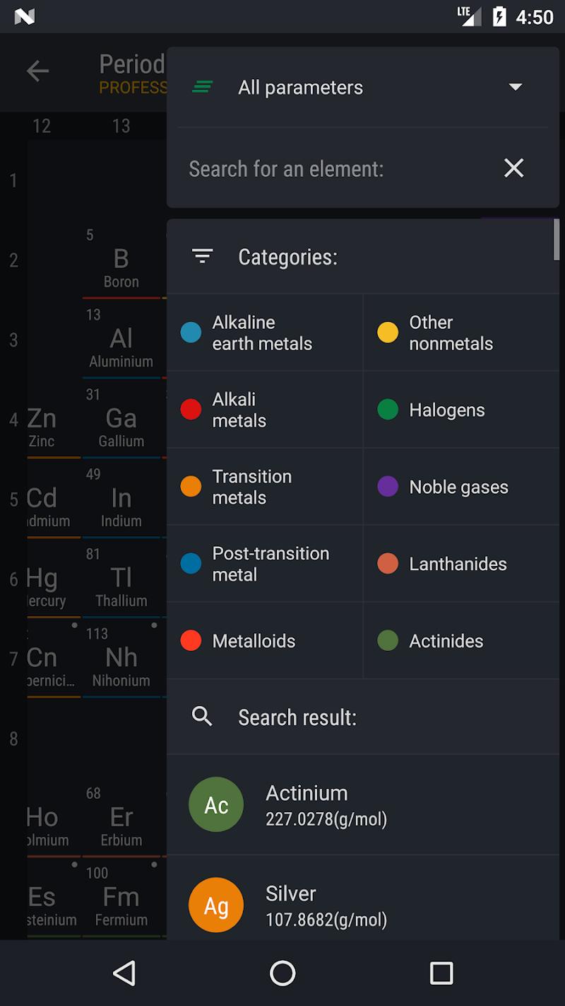 Periodic Table 2018 PRO Screenshot 6