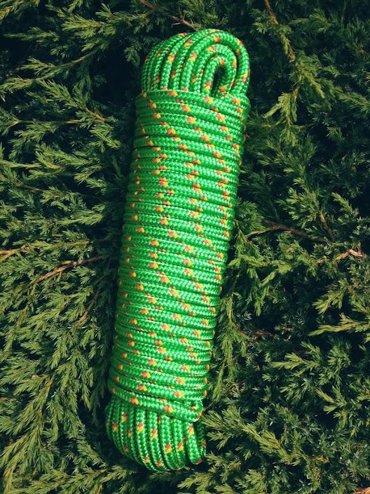 Nr.22 Gelbes Bootstau 6 mm,30m,Allzweckseil,Tau,Segeltauwerk,Seil,Mehrzweckseil