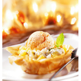 Mascarpone-fruittaartjes Met Vanille-ijs