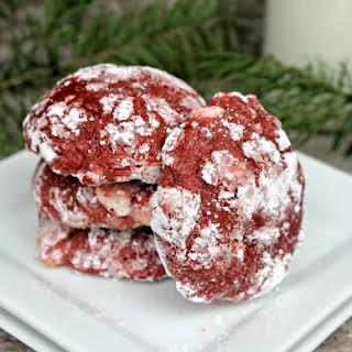 Red Velvet Crinkle Cookies.