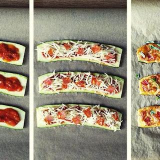 Zucchini Pizzas..–..Low Carb!.