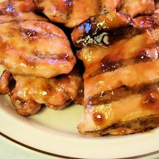 Apple Jelly Chicken Thighs.