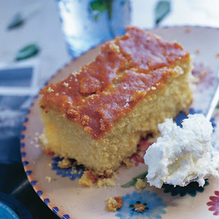 Yoghurt And Semolina Syrup Cake With Rose Water