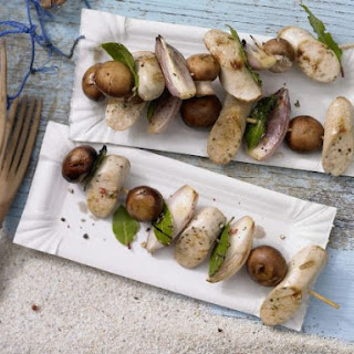 Sausage and Mushroom Skewers