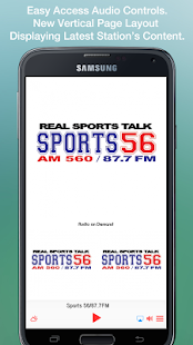 Sports 56/87.7FM- screenshot thumbnail