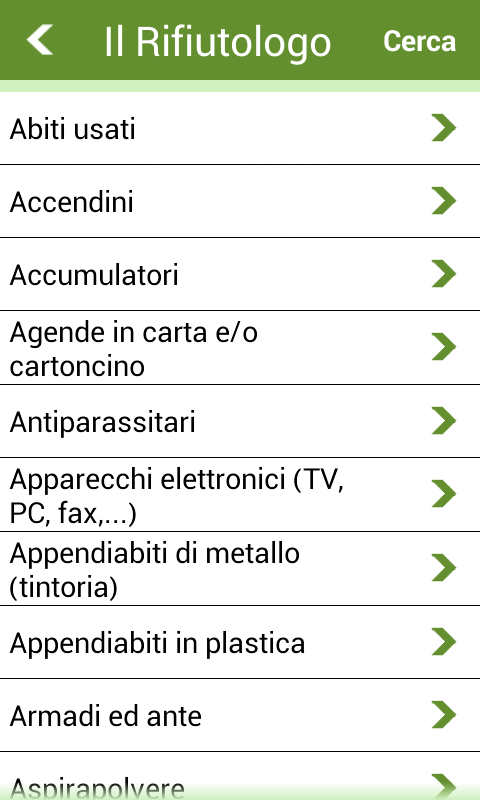 Asite si differenzia- screenshot