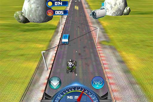 バイクのスピードレーシング:ATVクワッド