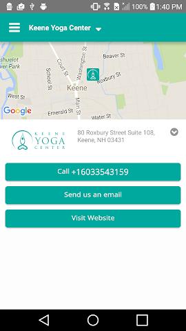 android Keene Yoga Center Screenshot 4