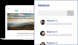 Contactez le support Orson pour répondre à vos questions