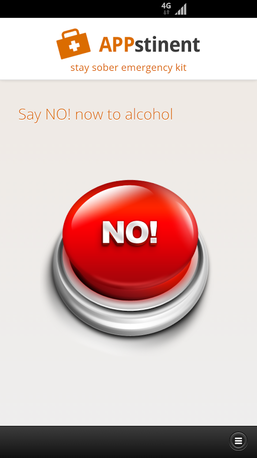 APPstinent - alcohol emergency- screenshot