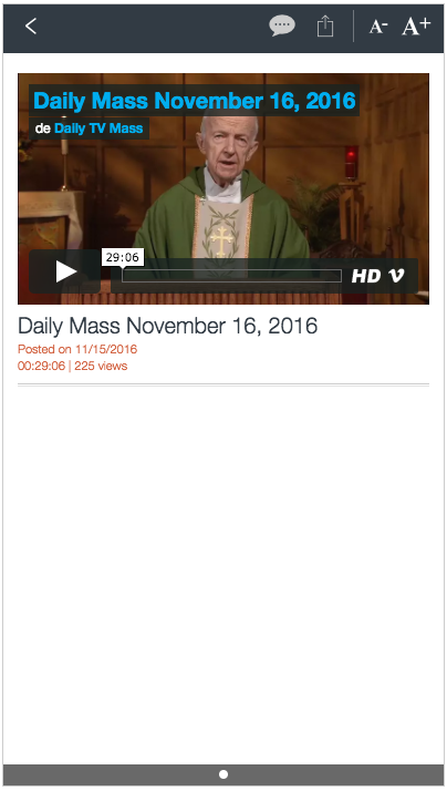 Daily TV Mass- screenshot