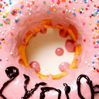 Strawberry Doughnut Cake