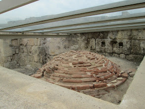 Photo: An original oven made when the city was first constructed. The roof over it keeps it from being harmed from weather.