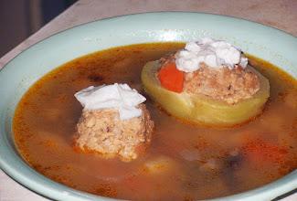 Photo: Zupa z faszerowaną kalarepką i gałkami mięsnymi 28