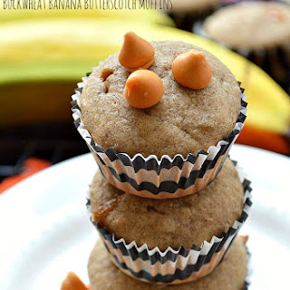 Gluten Free Buckwheat Butterscotch Banana Muffins