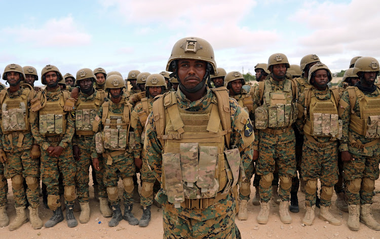 Somali military officers attend a training programme at their military base in Mogadishu, Somalia November 1, 2017.